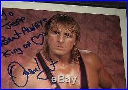 Owen Hart Signed WWF Promo 1994 8x10 Photo PSA WWE AUTOGRAPHED RARE
