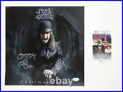 Ozzy Osbourne Ordinary Man Signed Autographed 12x12 Promo LP Flat Litho JSA COA