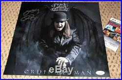 Ozzy Osbourne Signed 12x12 Promo Flat Jsa Auth Autograph Ordinary Man Print