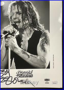 Ozzy Osbourne Signed Promo Photo 8x10 Rock Metal Black Sabbath Autograph HOF JSA