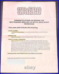 PAMELA ANDERSON SIGNED AUTOGRAPH 8x10 Stacked Promo Winner Plus Baywatch Script