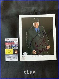 PAUL HEYMAN Autographed ORIGINAL WWF (WWE) PROMO Photo withJSAAUTHENTICATION