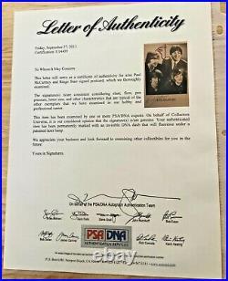 PAUL McCARTNEY RINGO STARR BEATLES Autographed Signed 4x6 Promo Photo PSA/DNA