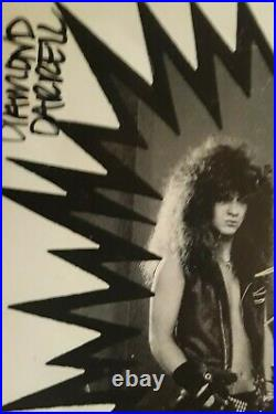 Pantera Autographed In 1987 Power Metal 8x10 Promo Picture Darrell Phil Rex Vin