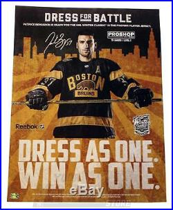 Patrice Bergeron Boston Bruins Signed Autographed Winter Classic Promo Poster