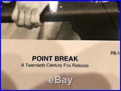 Patrick Swayze Keanu Reeves Autographed Point Break Promo Photo Original