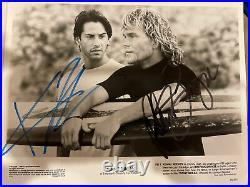 Patrick Swayze Keanu Reeves Autographed Promo Photo Originally Signed By Both