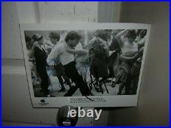 Patrick Swayze Signed promo press photo 1987Dirty Dancing Jennifer Grey