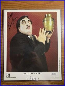 Paul Bearer Autographed Original Promo with Rare RIP Inscription JSA