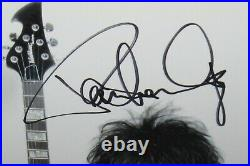Paul Stanley Signed Kiss Photo 8x10 Washburn Promo Solo Autograph Beckett Coa