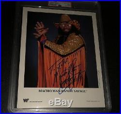 RANDY MACHO MAN SAVAGE Signed WWF Promo 1992 8x10 Photo PSA WWE AUTO