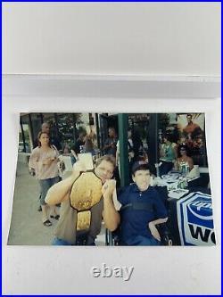 RARE Hand Signed Chris Benoit Vintage WWF 8x10 Promo Photo 9/2000 WCW ECW WWE