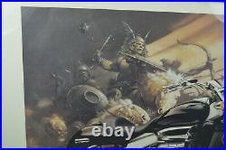 RARE Promo 2004 Honda Rune Motorcycle 39x25 Framed Print Viking Picture Art