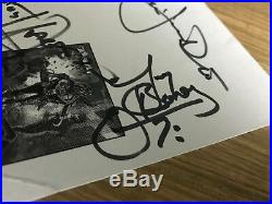 RONNIE JAMES DIO SIGNED 5.5x8.5 ANGRY MACHINES PROMO CARD SCOTT WARREN, TRACY G