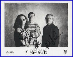 RUSH signed 8x10 promo photo COMPLETE x3 AUTOGRAPH auto Neil Peart Lee BAS LOA