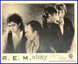 R. E. M. Signed Original 8x10 black & white 1988 FanClub Promo Photo Michael Stipe
