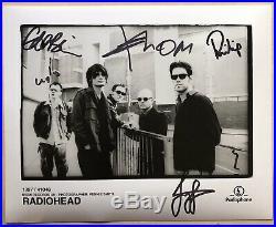 Radiohead Autographs Personally Signed Original Parlophone Promo Photos -Rare