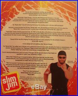 Randy Macho Man Savage Wcw Slim Jim In-person Signed 8x10 Promo Wwe Wwf