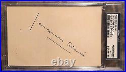 Rare 1962 Jacques Plante Autographed Molson Promo Photo 1962 Auto COA PSA