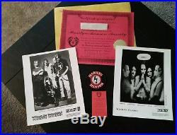 Rare 97 Marilyn Manson family signed adoption certificate promo photos fan club