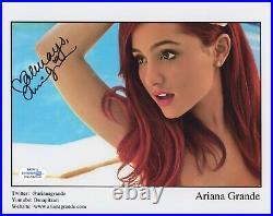 Rare ARIANA GRANDE signed Autographed 8X10 PROMO PHOTO PROOF Sexy ACOA COA