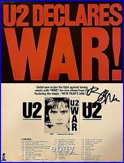 Rare Bono Signed U2 11x14 War Promo with PSA/DNA COA and Proof Photo