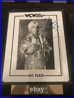 Ric Flair Signed 8x10 Promo Photo WCW 1994
