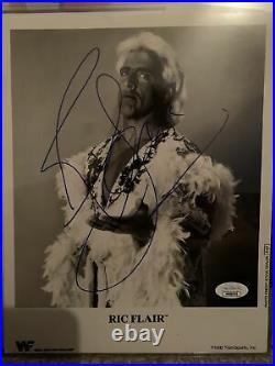 Ric Flair WWF signed promo photo rare woooo 16x P-67 Wwe Charlotte jsa