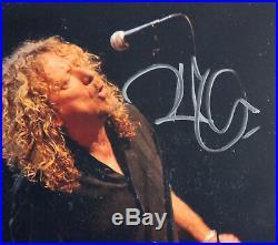 Robert Plant Led Zeppelin Authentic Signed 5.85x7.85 Promo Photo BAS Slabbed