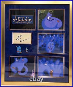Robin Williams Signed Autograph Promo Framed Photo Signature Aladdin