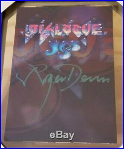 Roger Dean signed Promo for Dialogue, a photo-journalistic history of Yes