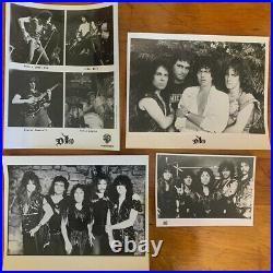 Ronnie James Dio Holy Diver Signed 1st Press LP with Promo Photo Set, Sabbath