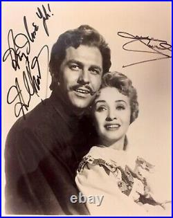 SEVEN BRIDES FOR SEVEN BROTHERS H Keel & J Powell Signed 8x10 Promo Photo withCOA