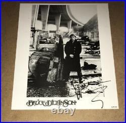 SIGNED BRUCE DICKINSON 10x8 PROMO PHOTO IRON MAIDEN RARE AUTHENTIC STEVE HARRIS