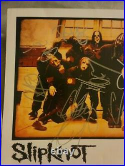 SLIPKNOT Autographed Roadrunner Records Promo Photo! Signed Iowa promo