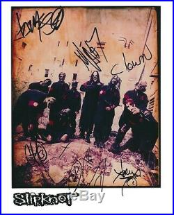 SLIPKNOT BAND Autograph Roadrunner Records Promo Signed 8x10 Photo By 8 PSA/DNA