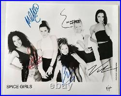 SPICE GIRLS 1st VIRGIN 10X8 AUTOGRAPHED PROMO PHOTO + HISTORY VERY RARE