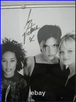 SPICE GIRLS genuine autographed signed B & W Virgin promo photo 25 x 20cm framed