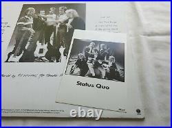 STATUS QUO AIN'T COMPLAINING UK LP & PROMO PHOTO FULLY SIGNED inc PARFITT