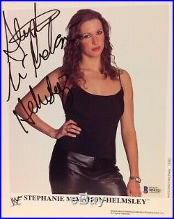STEPHANIE MCMAHON HELMSLEY SIGNED PROMO 8x10 PHOTO BECKETT BAS WWE WWF
