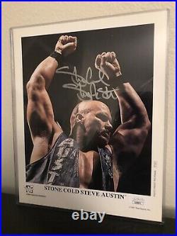 STONE COLD STEVE AUSTIN WWF WWE AUTOGRAPHED PROMO PHOTO WRESTLING 8x10 P-410