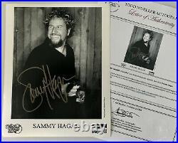 Sammy Hagar Van Halen Hand Signed 8 x 10 Promo Photo // RIP, Eddie Van Halen