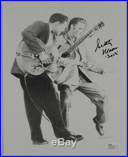 Scotty Moore Signed Promo Photo Autograph JSA 8 x 10 Elvis Presley