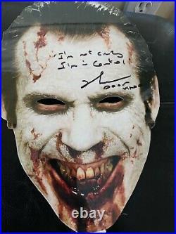 Sheri Moon Zombie Richard Brake Signed Promo Heads Masks JSA COA 31 movie rob z