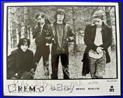 Signed 1985 R. E. M. 8x10 glossy promo photo