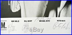 Signed 1986 R. E. M. 8x10 glossy promo photo