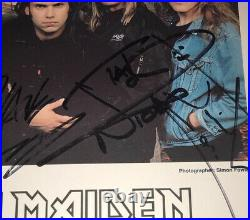 Signed Iron Maiden Promo Photo Bayley Harris Gers Mcbain Murray Rare Authentic