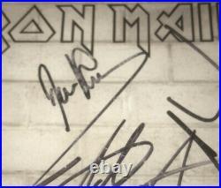 Signed Iron Maiden Promo Photo Dickinson Harris Gers Smith Mcbain Murray Rare