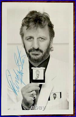 Signed Promo Photo Ringo Starr Obtained Via Post 1980's Fab Autograph Beatles
