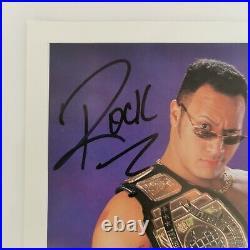 Signed The Rock WWF 8x10 Promo Card Photo Rocky Maivia WWE P-441